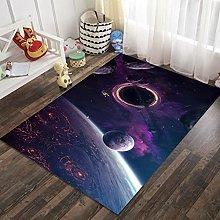 3D Purple Space Rectangular Area Carpet 24x35