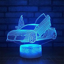 3D Racing Car Night Light USB Touch Switch Decor