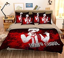 3D Red Black Cartoon Anime Tokyo 432 Bedding