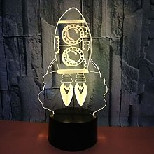 3D Rocket Night Light Touch Table Desk Lamp 7