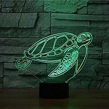 3D Sea Turtle Night Light USB Touch Switch Decor