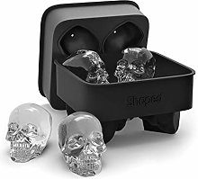 3D Skull Flexible Silicone Ice Cube Mold Tray,