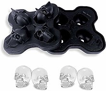 3D Skull Flexible Silicone Ice Cube Mould