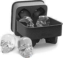 3D Skull Ice Cube Mold Tray Reusable Flexible