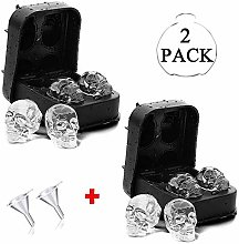 3D Skull Ice Cube Moulds Tray, NEKOSUKI 2 Pack