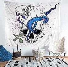 3D Skull Print Tapestries Wall Hanging Octopus
