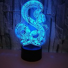 3D Snake Night Light USB Touch Switch Decor Table