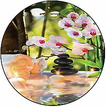 3D Spa Pattern Area Rugs Carpets,4' Round,Spa