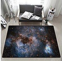 3D Space Print Rectangular Rug 160x230 cm,Unique
