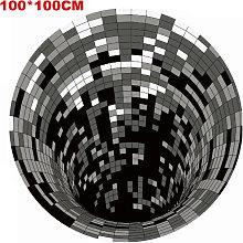3D Space Round Carpet, Checkered Vortex Optical
