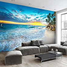 3D Stereo Beach Seascape Landscape Background