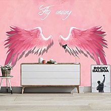 3D Stereo Pink Angel Wings Wallpaper Photo Live