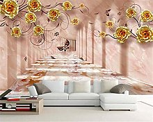 3D Stereo Wallpaper Space Pink Gold Romantic TV