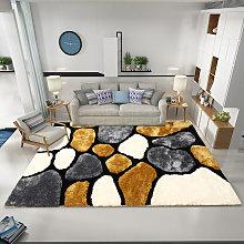 3D Stone Pattern Shaggy Fluffy Rug Mat Carpet,