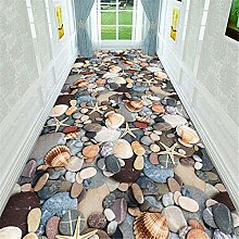 3D Stones Decor Corridor Carpet Flannel Anti-slip