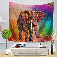 3D Tapestry Wall Hanging,Colorful Strong Elephant