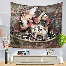 3D Tapestry Wall Hanging,Heart Shaped Cute Flower
