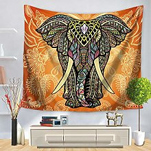 3D Tapestry Wall Hanging,Yellow Paisley Pattern