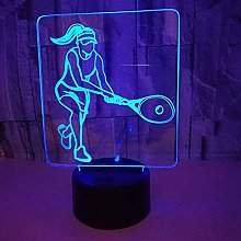 3D Tennis Night Light USB Touch Switch Decor Table