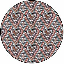 3D Tribal Pattern Area Rugs Carpets,4'