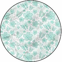 3D Turquoise Pattern Area Rugs Carpets,3'