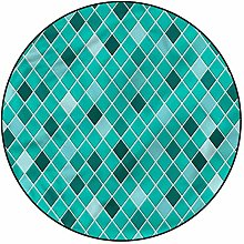3D Turquoise Pattern Area Rugs Carpets,4'