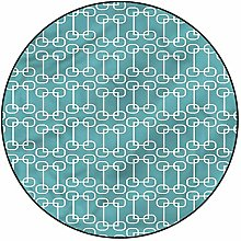 3D Turquoise Pattern Area Rugs Carpets,6'