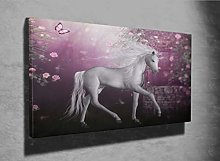 3D Unicorn Beautiful Photo Canvas Print (10442794)