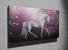 3D Unicorn Beautiful Photo Canvas Print (10442794)