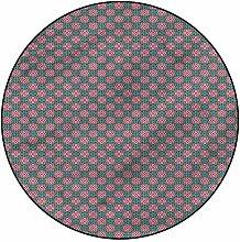 3D Vintage Pattern Area Rugs Carpets,4'