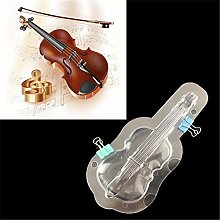 3D Violin Chocolate Mold Clear Polycarbonate