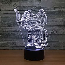 3D Visual Animal Pattern Led USB Desk Lamp Night