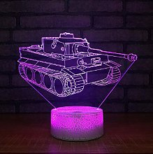 3D Visual Tank Night Desk Lamp Light Creative