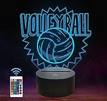 3D Volleyball Kids Night Light, Kids Living Room