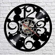 3D Wall Clock Modern Big Number Vinyl Record Clock