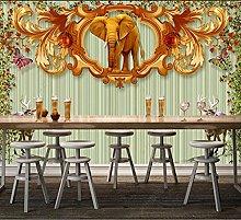 3D Wall Mural Elephant 3D Wallpaper Mural