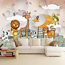 3D Wall Murals Wallpaper for Kids Room Cartoon