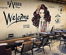 3D Wall Paper Beauty Salon Hair Salon Barber Shop
