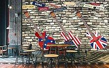 3D Wall Paper Guitar Bar Coffee Shop Wallpaper