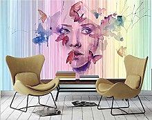 3D Wallpaper Beauty Butterfly Cool Watercolor