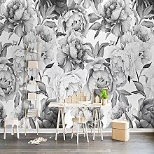3D Wallpaper, Black and White Peony Wallpaper for