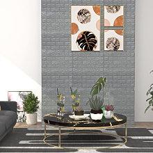 3D Wallpaper Bricks Self-adhesive 10 pcs Anthracite