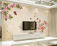 3D Wallpaper Butterfly Flower for Walls Murals