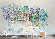 3D Wallpaper Colorful Plant for Walls Murals