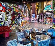 3D Wallpaper Doodle Street for Walls Murals
