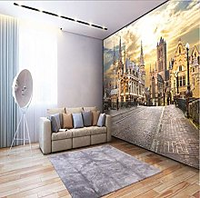 3D Wallpaper European City Street View 3D TV Sofa