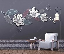 3D Wallpaper Flower Butterfly for Walls Murals