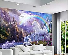 3D Wallpaper for Bedroom and Living Room Blue Sky