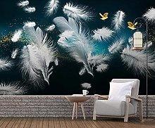 3D Wallpaper for Bedroom and Living Room Dark Blue