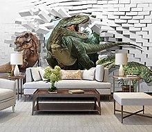 3D Wallpaper for Bedroom and Living Room Dinosaur